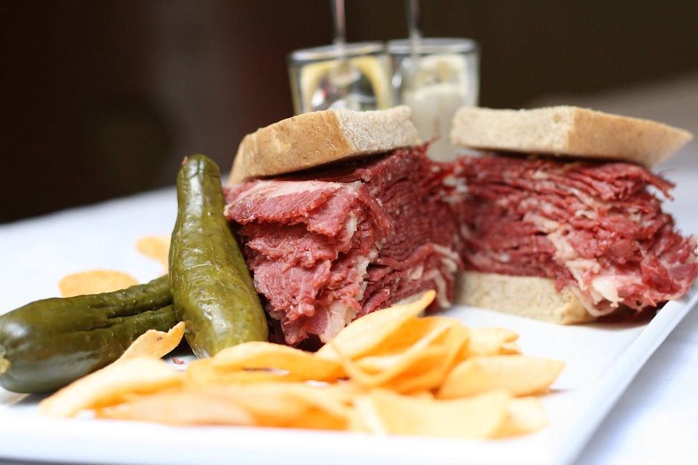 corned beef deli sandwich